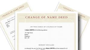 Step-by-Step Guide to change your name with a Deed Poll